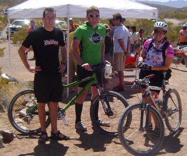 Three Soccorans at the 2006 Coyote Classic MTB Race