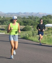 Photo of Julie and Joe at the halfway point