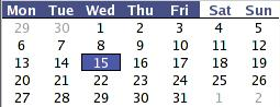 2005 Statewide Race Calendar